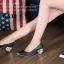 รองเท้าคัทชูหัวแหลม สไตล์ZARA หนังนิ่ม หน้าวี (สีดำ ) thumbnail 5