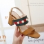 รองเท้าส้นตันรัดส้นสีแทน สไตล์แบรนด์ GUCCI (สีแทน ) thumbnail 3
