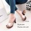 รองเท้าส้นสูงเปิดส้นสีแชมเปญ ใส่แล้วดูขาเรียวยาว (สีแชมเปญ ) thumbnail 3