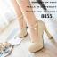 รองเท้าคัทชูส้นสูง หัวกลม หนังแก้ว (สีครีม ) thumbnail 4