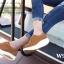 รองเท้าผ้าใบเสริมส้น เพื่อสุขภาพ แนววินเทจ (สีน้ำตาล ) thumbnail 4