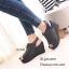 รองเท้าส้นเตารีดรัดส้นสีเทา แบบสวม เปิดหน้าเท้า (สีเทา ) thumbnail 4