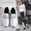 รองเท้าผ้าใบแฟชั่นสีขาว แต่งเพชร สไตล์เกาหลี (สีขาว ) thumbnail 2