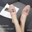 รองเท้าส้นเตี้ยเปิดส้นสีชมพู ทรงสลิปเปอร์ Style Gucci (สีชมพู ) thumbnail 3