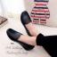 รองเท้าคัทชูเสริมส้น หนังนิ่ม ใส่สบายเท้า (สีดำ ) thumbnail 8