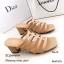รองเท้าส้นตันสีแทน แบบสวม ดีไซน์งานเส้น (สีแทน ) thumbnail 2