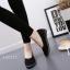 รองเท้าคัทชูพยาบาลสีดำ ผ้าแคนวาส พื้นยางนิ่ม (สีดำ ) thumbnail 3