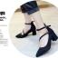 รองเท้าคัทชูส้นสูง รัดข้อ ทรงสุภาพ (สีดำ ) thumbnail 4