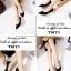 รองเท้าคัทชูหัวแหลม ส้นกลม หน้าวี (สีดำ ) thumbnail 4