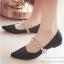 รองเท้าคัทชู ส้นเตี้ย หัวแหลม สายคาดเพชร (สีดำ ) thumbnail 2
