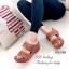 รองเท้าแตะสไตล์ลำลอง เปิดส้น พื้นสุขภาพ แนววินเทจ (สีน้ำตาล ) thumbnail 2