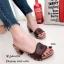 รองเท้าส้นสูง สไตล์ลำลอง หนังกลับ ปักลายดอกไม้ (สีน้ำตาล ) thumbnail 2