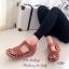 รองเท้าแตะ รัดส้น พื้นสุขภาพ นิ่มสบายเท้า (สีน้ำตาล ) thumbnail 3