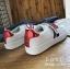 รองเท้าผ้าใบแฟชั่นสีขาว ทีเชือกร้อย แกะเข้าออกได้ เก๋มาก (สีขาว ) thumbnail 3