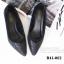 รองเท้าคัทชู หัวแหลม หนังนิ่มติดเกร็ดเลือ่ม ตัดขอบยางยืด (สีดำ ) thumbnail 4