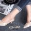 รองเท้าคัทชู หัวแหลม หนังนิ่ม แต่งกากเพชร (สีทอง ) thumbnail 6