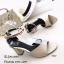 รองเท้าส้นตันรัดข้อสีทอง หนังซัฟฟิโน ส้นเหลี่ยม (สีทอง ) thumbnail 2