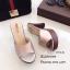 รองเท้าส้นสูงเปิดส้นสีแชมเปญ ใส่แล้วดูขาเรียวยาว (สีแชมเปญ ) thumbnail 2