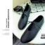 รองเท้าคัทชูส้นเตี้ยสีดำ ผูกเชือกเล็กๆ สไตล์ญี่ปุ่น (สีดำ ) thumbnail 3