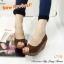 รองเท้าส้นเตารีดส้นโอ่ง เปิดหัวเล็กน้อย (สีน้ำตาล ) thumbnail 5