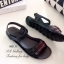 รองเท้าแตะ ลำลอง รัดข้อเท้า สายรัดเมจิกเทป (สีดำ ) thumbnail 3