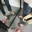 รองเท้าส้นสูงสีดำ รัดข้อ สไตล์แบรนด์ GIVENCHY (สีดำ ) thumbnail 4