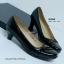 รองเท้าคัทชูส้นเตี้ย สไตล์เรียบหรู (สีดำ ) thumbnail 10