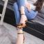 รองเท้าส้นเตี้ยรัดข้อสีน้ำตาล หัวแหลม แต่งอะไหล่ gucci (สีน้ำตาล ) thumbnail 3