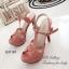 รองเท้าส้นสูง รัดข้อ สวยไฮโซ สไตล์YSL (สีชมพู ) thumbnail 2