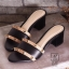 รองเท้าส้นตันเปิดส้นสีดำ style แบรนด์ valentino (สีดำ ) thumbnail 3