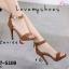 รองเท้าส้นสูงรัดข้อสีน้ำตาล ผ้าสักหราด แต่งซิปหลัง (สีน้ำตาล ) thumbnail 2