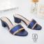รองเท้าส้นตันเปิดส้นสีน้ำเงิน style แบรนด์ valentino (สีน้ำเงิน ) thumbnail 2