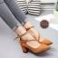 รองเท้าคัทชูส้นสูง รัดข้อ ทรงสุภาพ (สีน้ำตาล ) thumbnail 3