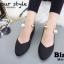 รองเท้าคัทชูส้นเตี้ยสีดำ หน้าวี สไตล์ GUCCI (สีดำ ) thumbnail 2
