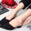รองเท้าส้นเตี้ย หัวแหลม เปิดส้น สักหลาดนิ่ม (สีดำ ) thumbnail 3
