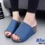 รองเท้าเตารีดเปิดส้นสีน้ำเงิน ทรงสวม หนังกลับ (สีน้ำเงิน ) thumbnail 4