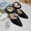 รองเท้าคัทชูรัดข้อสีดำ หัวแหลม เปิดส้น (สีดำ ) thumbnail 4