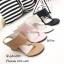 รองเท้าส้นเตารีดสีครีม แบบคีบ สไตล์ลำลอง (สีครีม ) thumbnail 3
