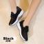 รองเท้าผ้าใบแฟชั่นสีดำ แต่งเพชร สไตล์เกาหลี (สีดำ ) thumbnail 6