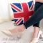รองเท้าคัทชู ส้นสูง หัวแหลม เย็บหนังซ้อน (สีทอง )