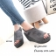รองเท้าส้นเตารีดรัดส้นสีเทา แบบสวม เปิดหน้าเท้า (สีเทา ) thumbnail 3