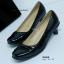 รองเท้าคัทชูส้นเตี้ย สไตล์เรียบหรู (สีดำ ) thumbnail 7