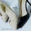 รองเท้าส้นสูงทรงหัวแหลม เว้าข้าง (สีดำ ) thumbnail 5
