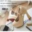 รองเท้าคัทชูส้นสูง หัวกลม หนังแก้ว (สีครีม ) thumbnail 2