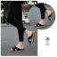 รองเท้าแตะเพื่อสุขภาพสีดำ สายคาผ้าซาติน พื้นยางนิ่ม (สีดำ ) thumbnail 3