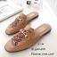 รองเท้าส้นแบนสีน้ำตาล ทรงสลิปเปอร์ Style Gucci (สีน้ำตาล ) thumbnail 3