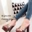 รองเท้าส้นสูงเปิดส้น แบบสว หน้าสาน สไตล์Ysl (สีทอง ) thumbnail 1