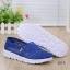รองเท้าผ้าใบลูกไม้สีน้ำเงิน พื้นสุขภาพ ผ้าลูกไม้โปร่งใส่สบาย (สีน้ำเงิน ) thumbnail 4
