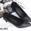 รองเท้าคัทชู หัวแหลม หนังนิ่มติดเกร็ดเลือ่ม ตัดขอบยางยืด (สีดำ ) thumbnail 5