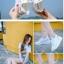รองเท้าผ้าใบเสริมส้นสีขาว ด้านข้างมี upper ดึงกระชับ (สีขาว ) thumbnail 3